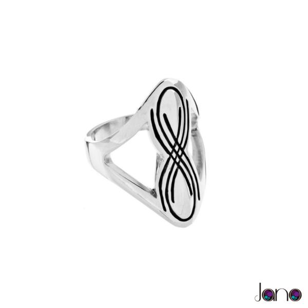 anillo-curva-lemniscata de plata