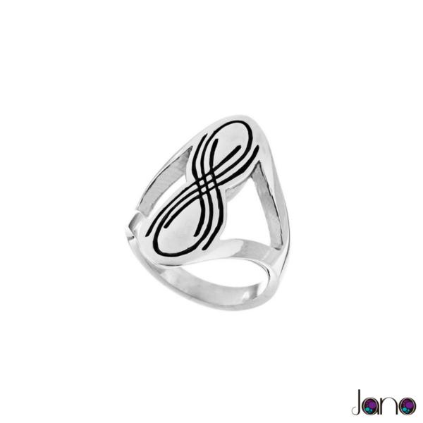 anillo-curva-lemniscata de plata 925