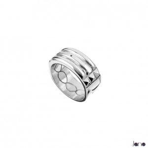 anillo atlante plata ancho